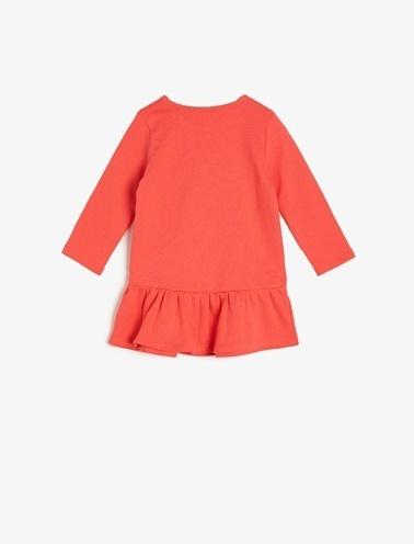 Koton Kids Baskılı Elbise Kırmızı